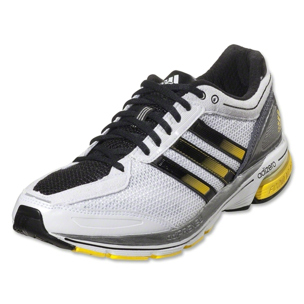 adidas adizero Boston 3 Running Shoes (Running White/Black/Vivid Yellow)