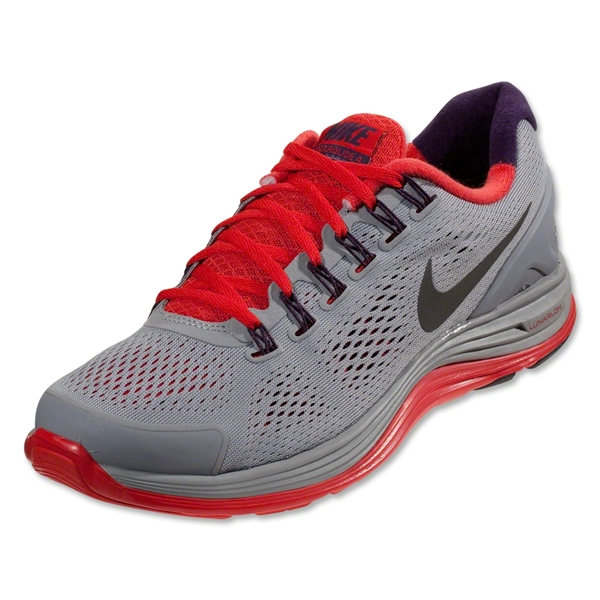 Nike Lunarglide+ 4 Running Shoe (Stadium Grey/Metallic Dark Grey)