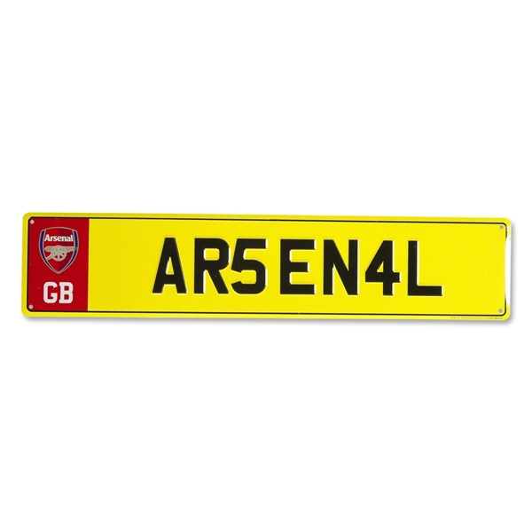 Arsenal Number Plate Sign
