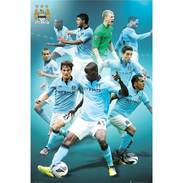 Manchester City 12/13 Players Poster
