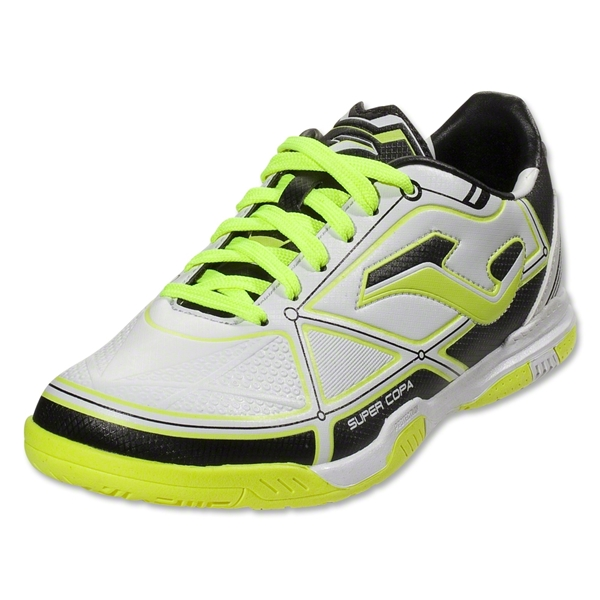 Joma Super Copa Indoor Junior (White/Bolt Lime)