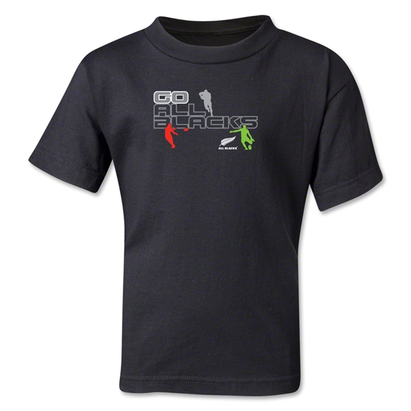 All Blacks Code Black Kids T-Shirt (Black)