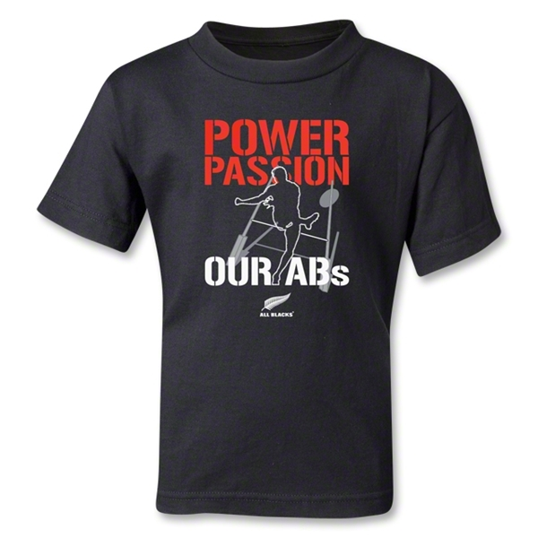 All Blacks Power and Passion Kids T-Shirt (Black)