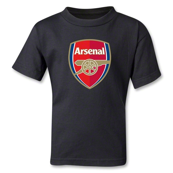Arsenal Crest Kids T-Shirt (Black)