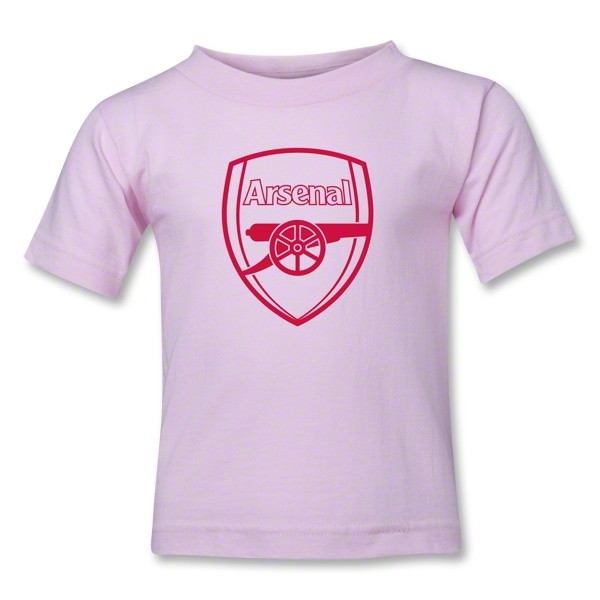 Arsenal Crest Kids T-Shirt (Pink)