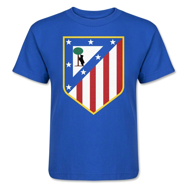 Atletico Madrid Crest Kids T-Shirt (Royal)