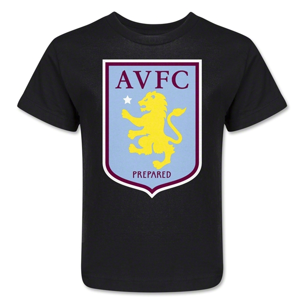 Aston Villa Kids T-Shirt (Black)
