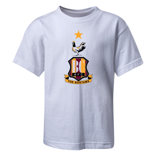 Bradford City Kids Crest T-Shirt (White)