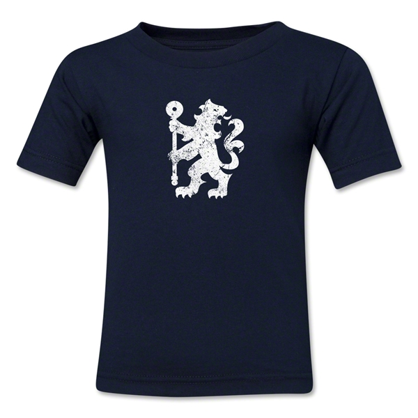 Chelsea Distressed Logo Kids T-Shirt (Navy)