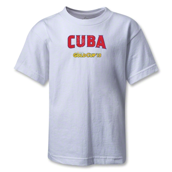 Cuba CONCACAF Gold Cup 2013 Kids T-Shirt (White)