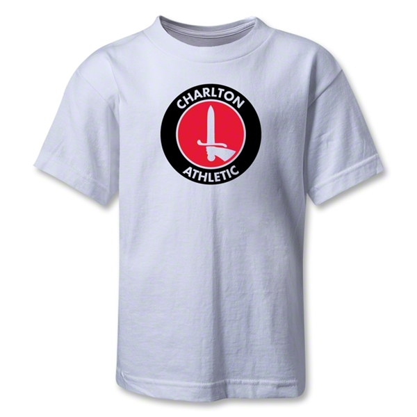Charlton Athletic Crest Kids T-Shirt (White)
