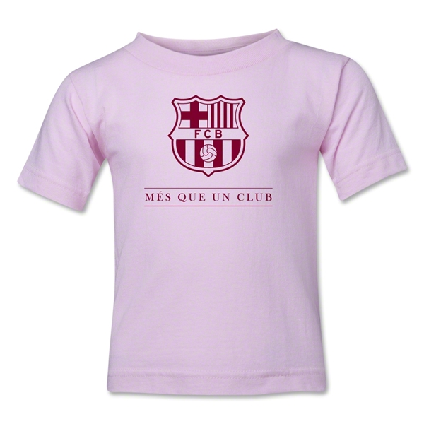 Barcelona Mes Que Un Club Kids T-Shirt (Pink)