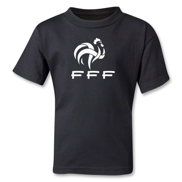 France FFF Kids T-Shirt (Black)