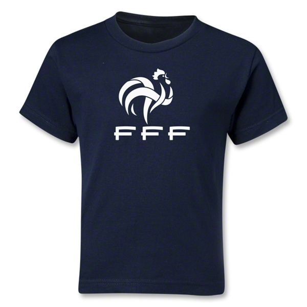 France FFF Kids T-Shirt (Navy)