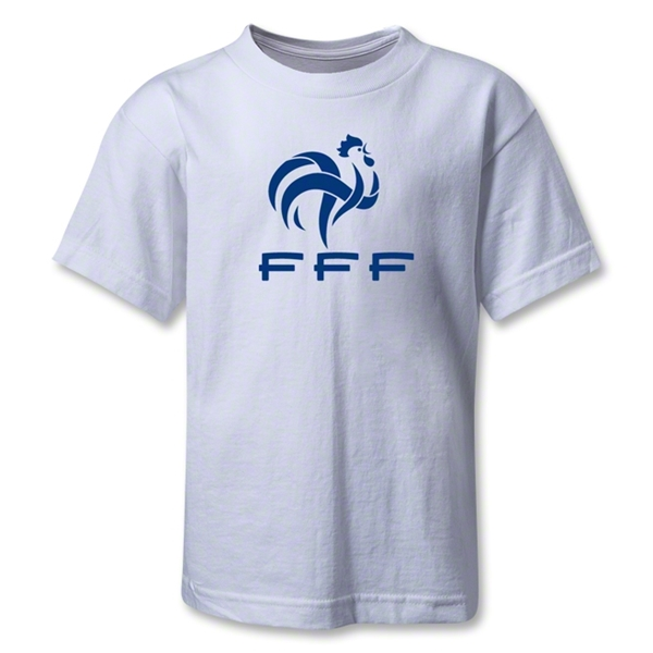 France FFF Kids T-Shirt (White)