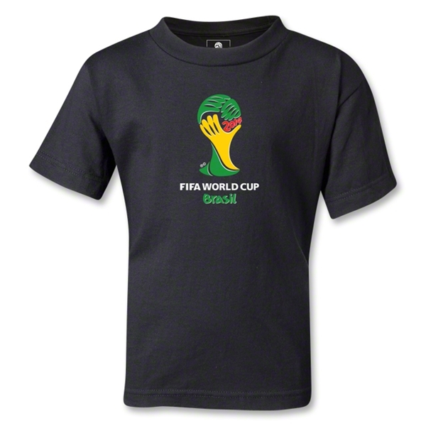 2014 FIFA World Cup Brazil(TM) Emblem Kids T-Shirt (Black)