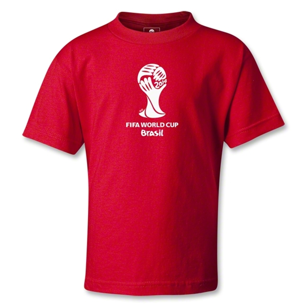 2014 FIFA World Cup Brazil(TM) Kids Emblem T-Shirt (Red)
