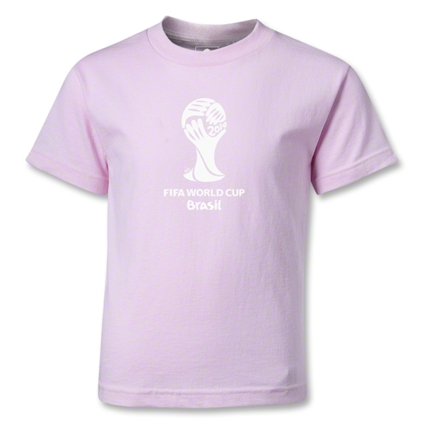 2014 FIFA World Cup Brazil(TM) Kids Emblem T-Shirt (Pink)