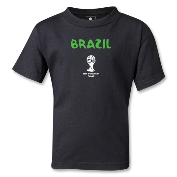 Brazil 2014 FIFA World Cup Brazil(TM) Kids Core T-Shirt (Black)