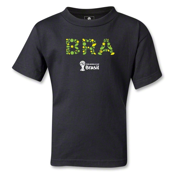 Brazil 2014 FIFA World Cup Brazil(TM) Kids Elements T-Shirt (Black)
