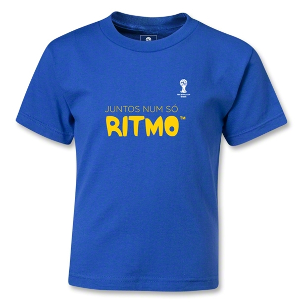 2014 FIFA World Cup Brazil(TM) Kids Portugese All In One Rhythm T-Shirt (Royal)