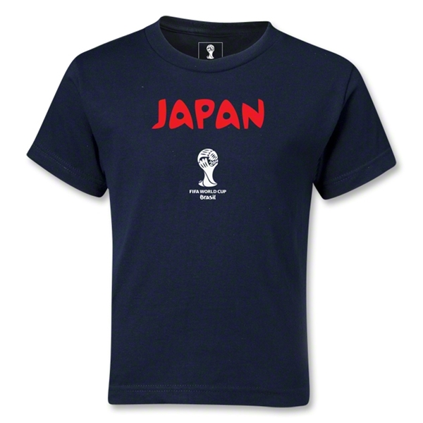 Japan 2014 FIFA World Cup Brazil(TM) Kids Core T-Shirt (Navy)