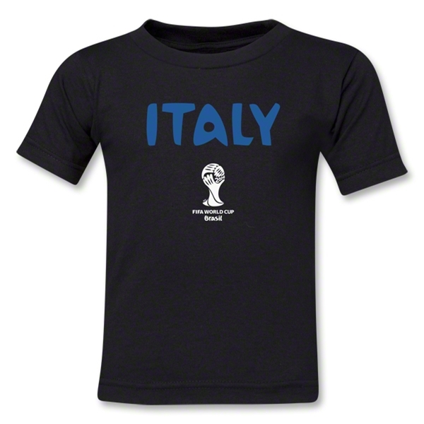 Italy 2014 FIFA World Cup Brazil(TM) Kids Core T-Shirt (Black)