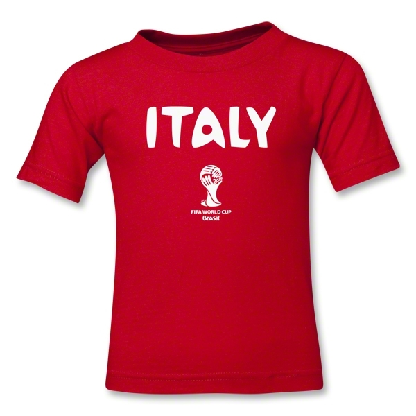 Italy 2014 FIFA World Cup Brazil(TM) Kids Core T-Shirt (Red)
