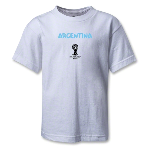 Argentina 2014 FIFA World Cup Brazil(TM) Kids Core T-Shirt (White)