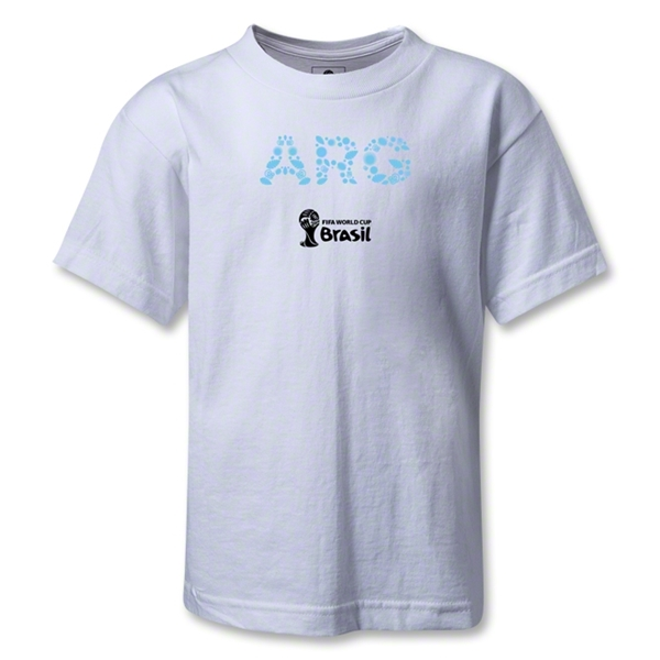 Argentina 2014 FIFA World Cup Brazil(TM) Kids Elements T-Shirt (White)