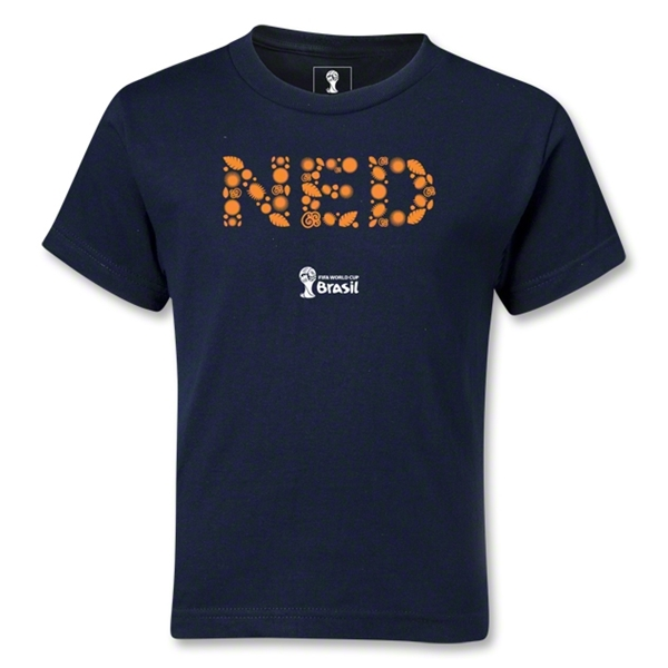 Netherlands 2014 FIFA World Cup Brazil(TM) Kids Elements T-Shirt (Navy)