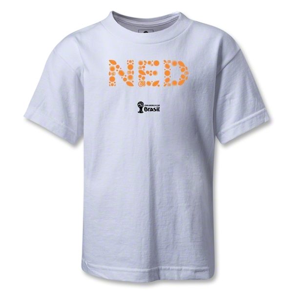 Netherlands 2014 FIFA World Cup Brazil(TM) Kids Elements T-Shirt (White)