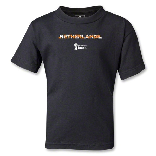 Netherlands 2014 FIFA World Cup Brazil(TM) Kids Palm T-Shirt (Black)