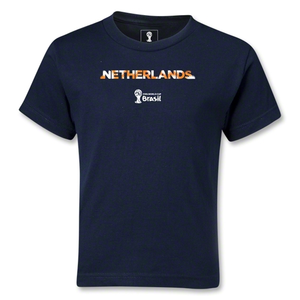Netherlands 2014 FIFA World Cup Brazil(TM) Kids Palm T-Shirt (Navy)