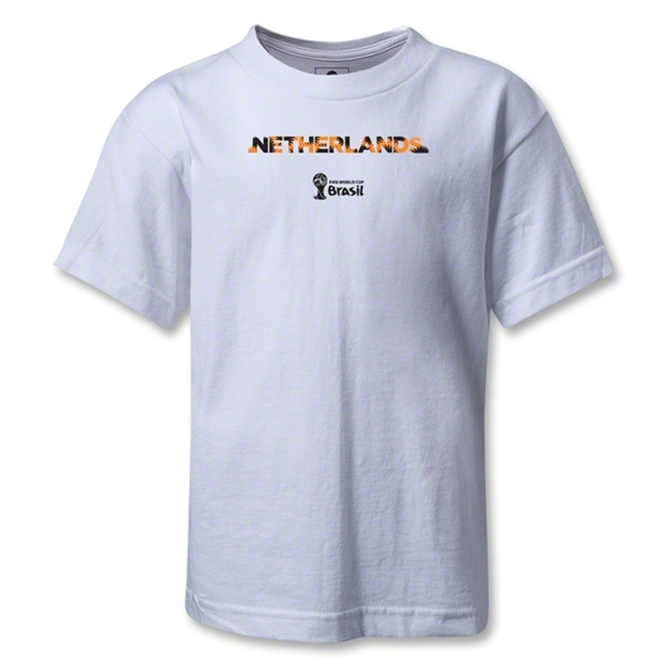 Netherlands 2014 FIFA World Cup Brazil(TM) Kids Palm T-Shirt (White)