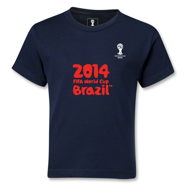 2014 FIFA World Cup Brazil(TM) Kids Logotype T-Shirt (Navy)