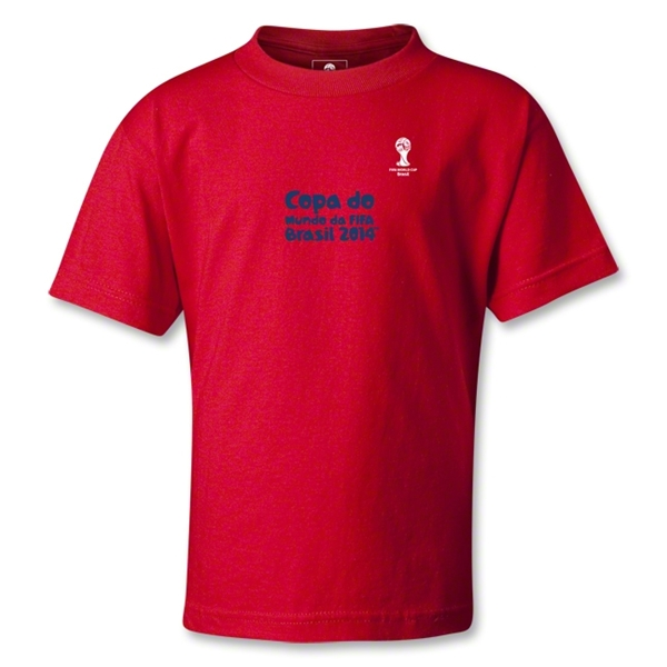 2014 FIFA World Cup Brazil(TM) Kids Portugese Logotype T-Shirt (Red)