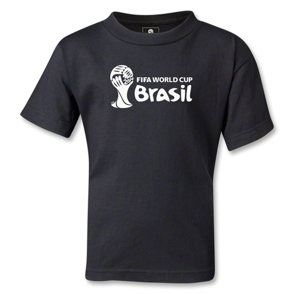 2014 FIFA World Cup Brazil(TM) Kids Landscape Emblem T-Shirt (Black)