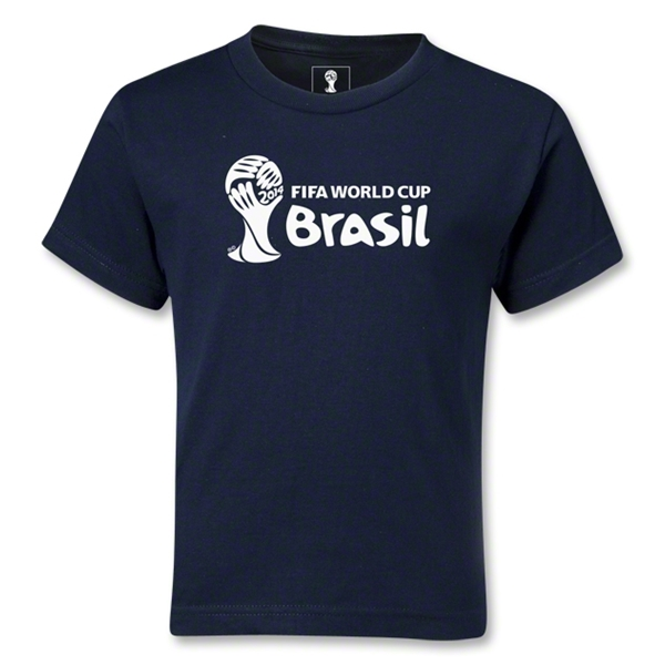 2014 FIFA World Cup Brazil(TM) Kids Landscape Emblem T-Shirt (Navy)