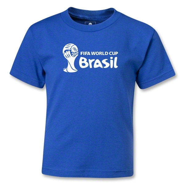 2014 FIFA World Cup Brazil(TM) Kids Landscape Emblem T-Shirt (Royal)