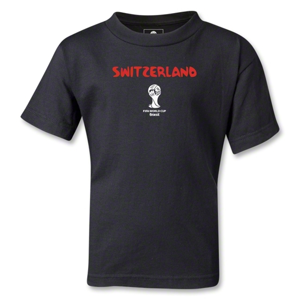Switzerland 2014 FIFA World Cup Brazil(TM) Kids Core T-Shirt (Black)