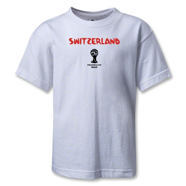 Switzerland 2014 FIFA World Cup Brazil(TM) Kids Core T-Shirt (White)
