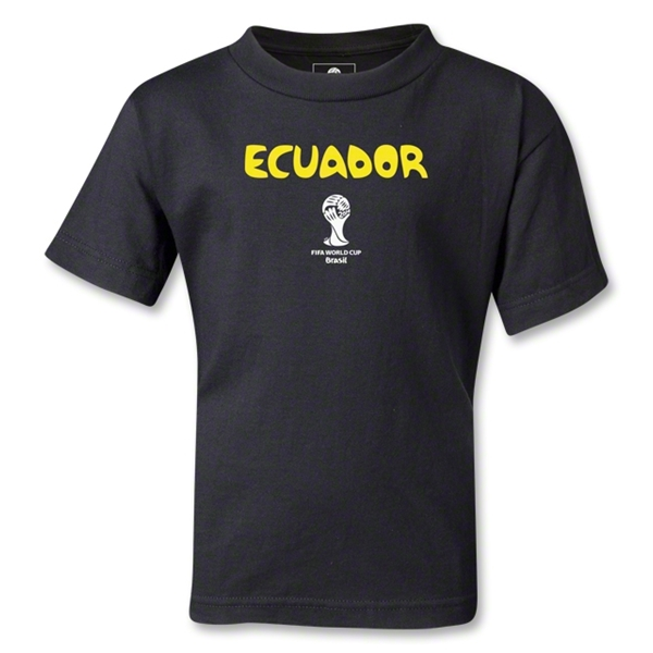 Ecuador 2014 FIFA World Cup Brazil(TM) Kids Core T-Shirt (Black)