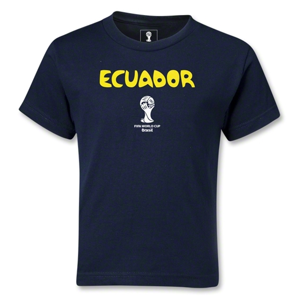 Ecuador 2014 FIFA World Cup Brazil(TM) Kids Core T-Shirt (Navy)