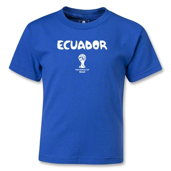 Ecuador 2014 FIFA World Cup Brazil(TM) Kids Core T-Shirt (Royal)