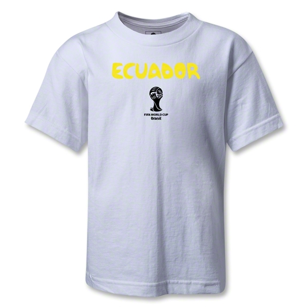Ecuador 2014 FIFA World Cup Brazil(TM) Kids Core T-Shirt (White)