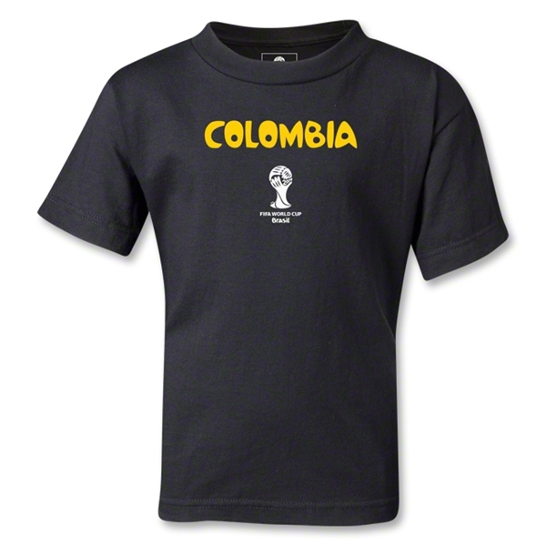 Colombia 2014 FIFA World Cup Brazil(TM) Kids Core T-Shirt (Black)