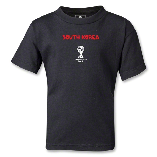South Korea 2014 FIFA World Cup Brazil(TM) Kids Core T-Shirt (Black)