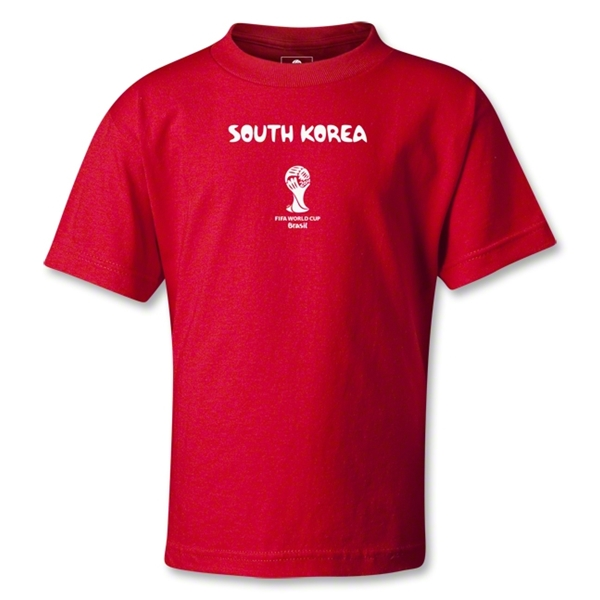 South Korea 2014 FIFA World Cup Brazil(TM) Kids Core T-Shirt (Red)