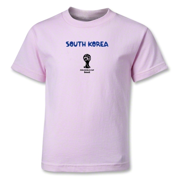 South Korea 2014 FIFA World Cup Brazil(TM) Kids Core T-Shirt (Pink)